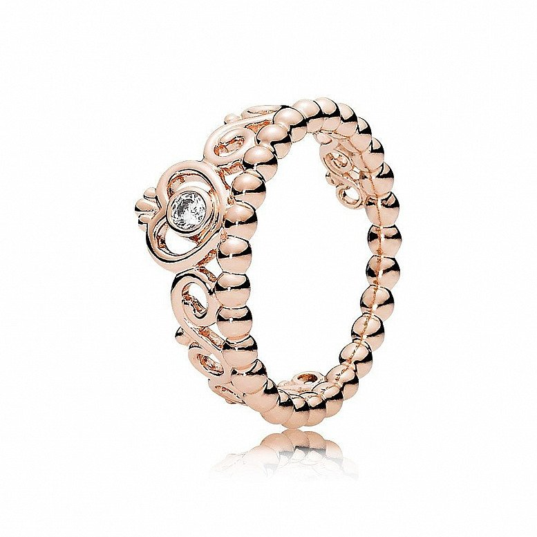 PANDORA PRINCESS TIARA CRYSTAL ROSE RING - £60.00