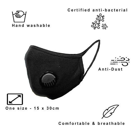 Reusable cotton face masks - with ventilation