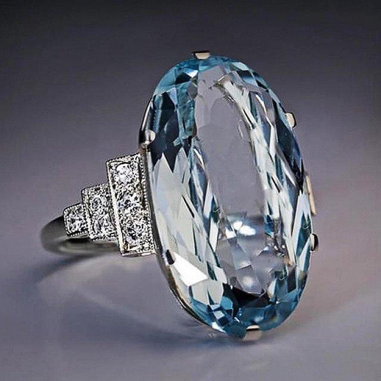 Sky Blue Wedding Ring