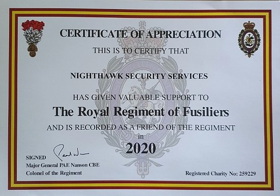 Certification of Sponsorship