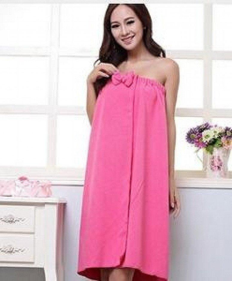 Women Microfiber Bath Towel Bath Robe Bathrobe Body Spa Bath Bow Wrap Towel Super Absorbent Bath Gow