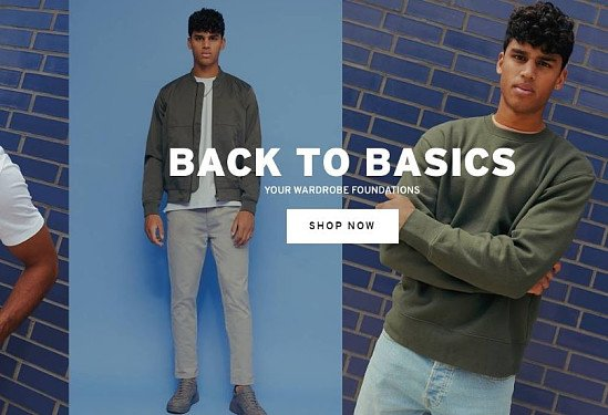 SHOP THE BACK TO BASICS RANGE ON TOPMAN