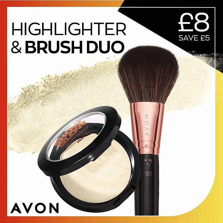 Highlighter brush duo