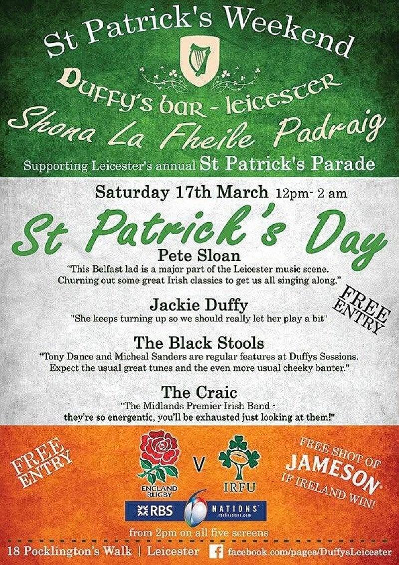 St Patrick's Day at Duffy's Bar