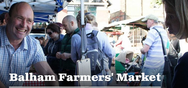 Balham Farmers' Market.  Every Saturday 9am-1pm