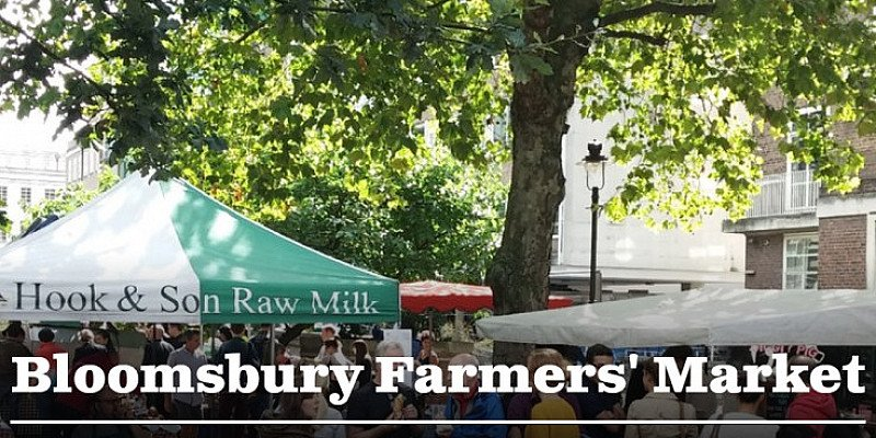 Bloomsbury Farmers' Market. Every Thursday 9am-2pm
