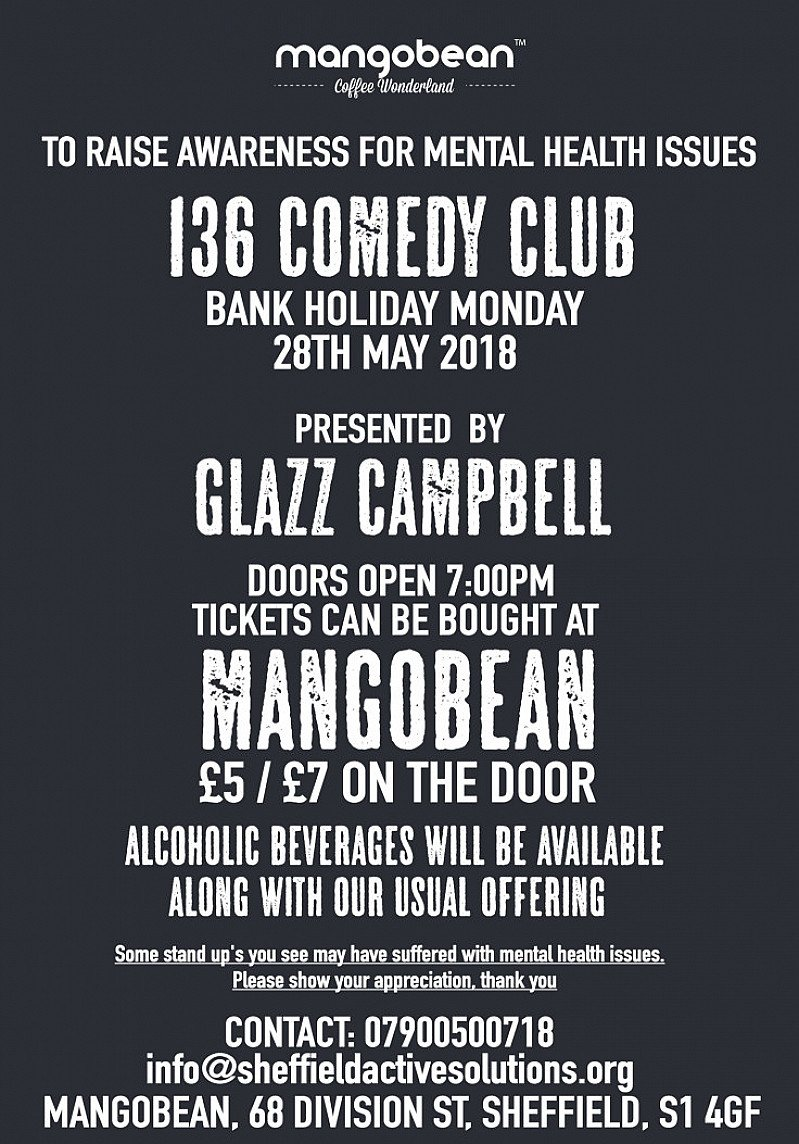 Mental Health Charity Comedy Night - Presented by Glazz Campbell