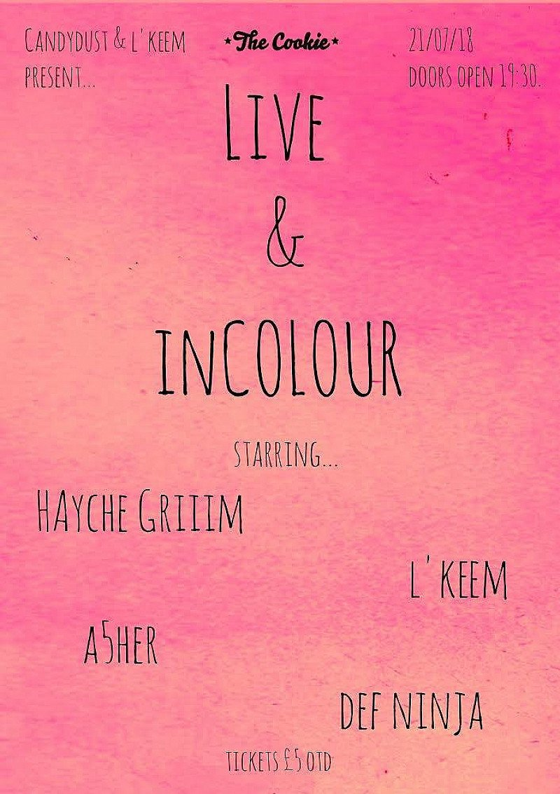 Candydust & l'keem present: Live and in COLOUR