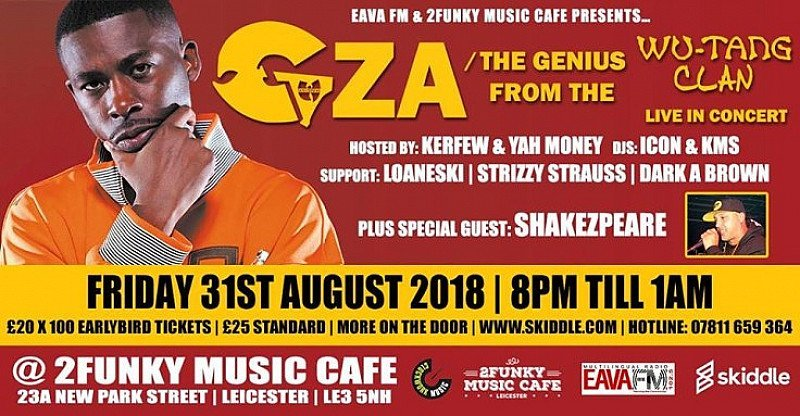 GZA/The Genius from the Wu-Tang Clan Live in Leicester