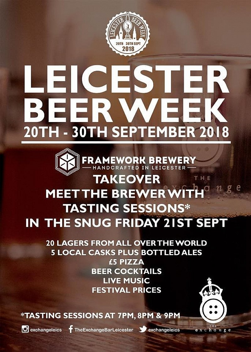 Leicester Beer Week Framework Takeover - The Exchange