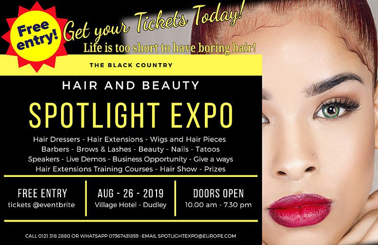 Bank Holiday Hair and Beauty Exhibition at the Village Hotel Dudley