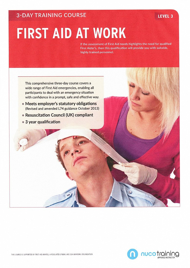 3-Day First Aid at Work Qualification Course