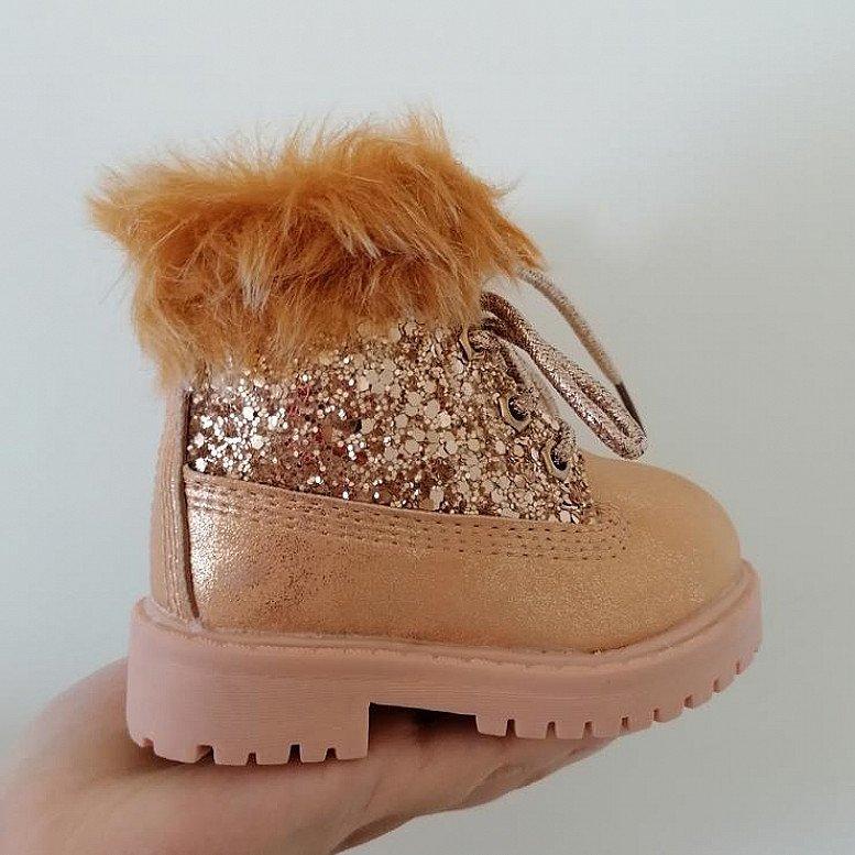 Kids FAUX fur Lined boots