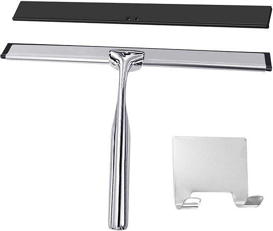 Shower Squeegee Window Wiper Stainless Steel Window Squeegee Shower Cleaner