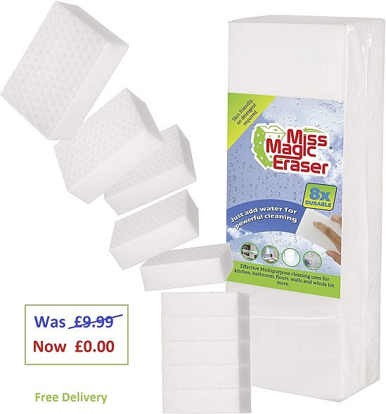 Today's Free Stuff - Get 10 x Magic Eraser Sponges for FREE by Life Dream Love