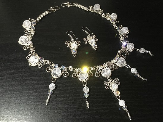 Icicle  Bridal Necklace