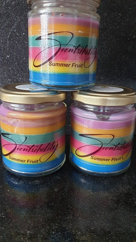 Luxurious  highly scented wax candles