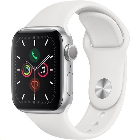 Apple Watch Series 5 40mm White Sport Band with Silver Aluminium Case  4G LTE