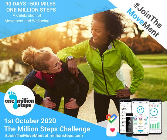 Final Week To Join: Million Steps Challenge 1st October 2020