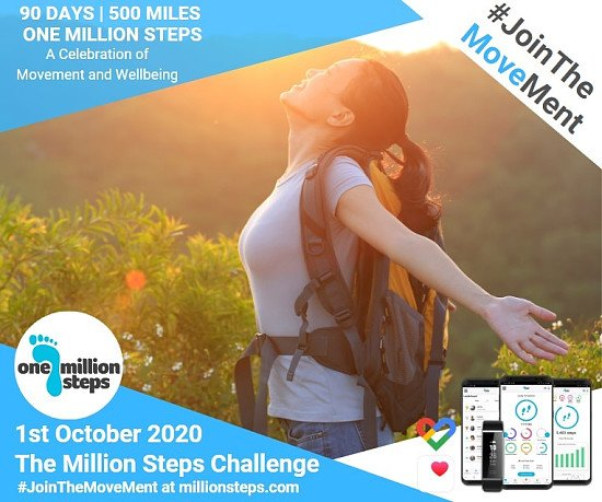 Up to 25% off! Final Week To Join: Million Steps Challenge 1st October 2020