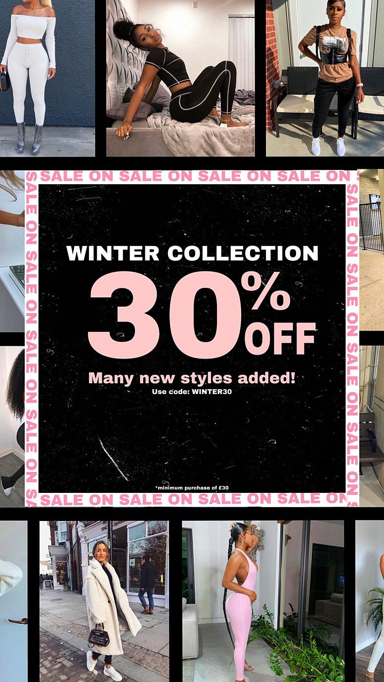 30%OFF Winter Collection ❄️