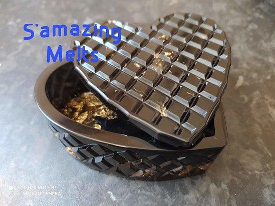 Resin Heart Trinket Box