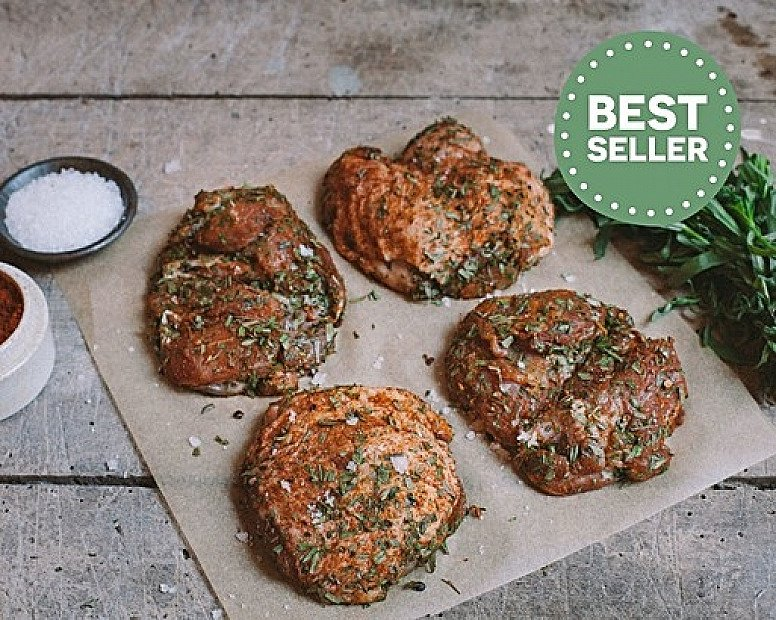 BEST SELLER - Herb & Salted Chicken Thighs, Boneless (350g) £5.48!