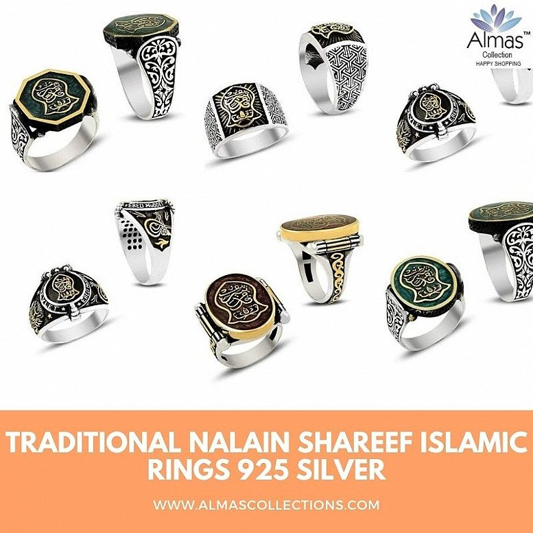 Traditional Nalain Shareef Islamic Rings in 925 Sterling Silver