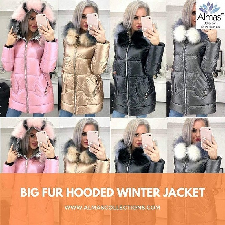 Big Fur Hooded Winter Jacket