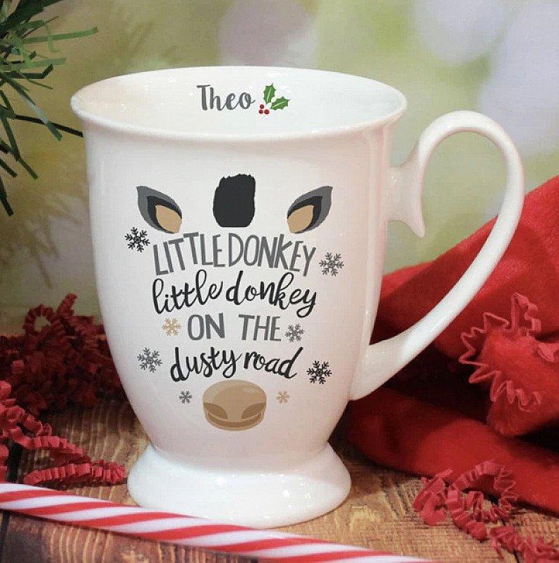Personalised Donkey Christmas Mug