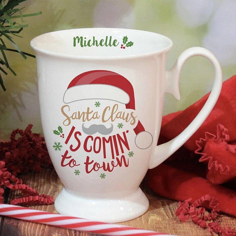 Personalised Santa Christmas Mug