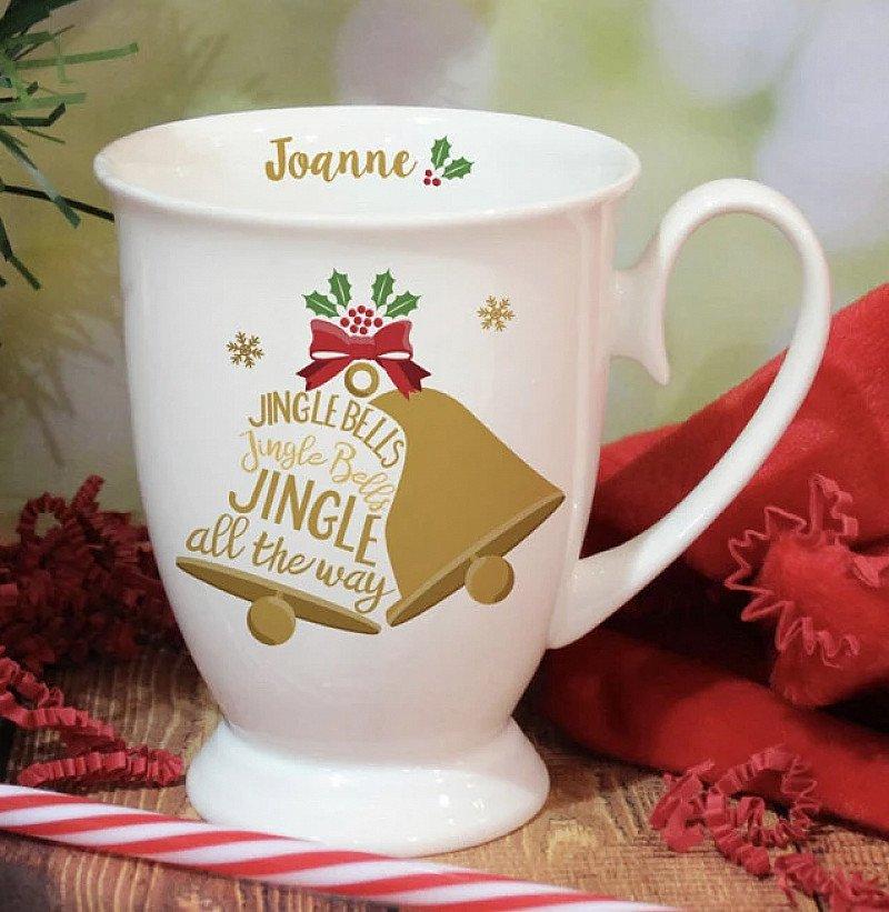 Personalised Bell Christmas Mug