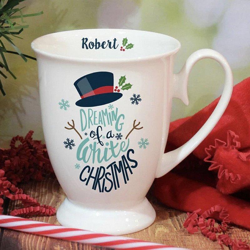 Personalised Snowman Christmas Mug