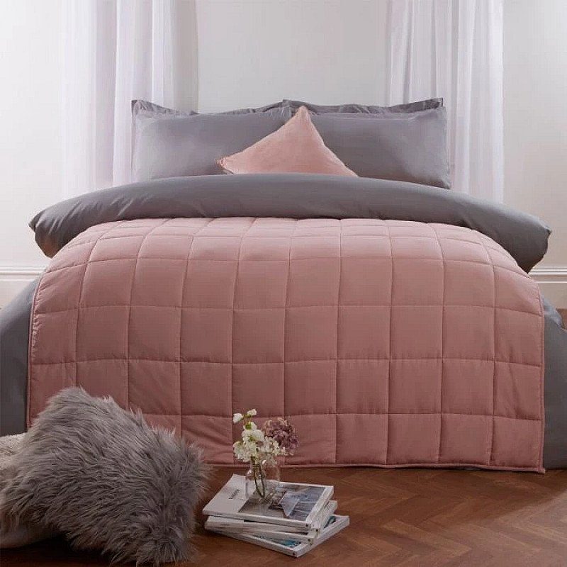 Weighted Blanket Quilted - Blush Pink