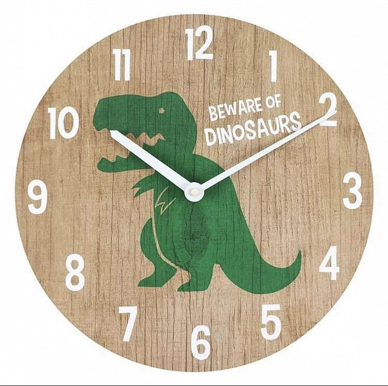 Kids dinosaur clock 🦖