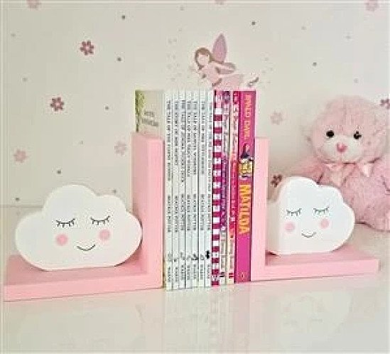 Pink Cloud Bookends