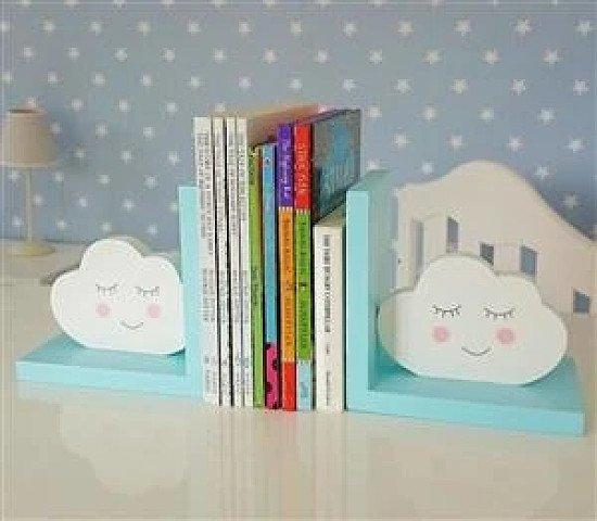 Blue Cloud Bookends