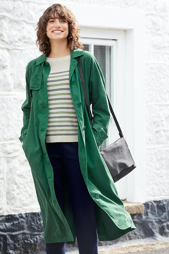 SAVE - Tranquil Sea Trench Coat