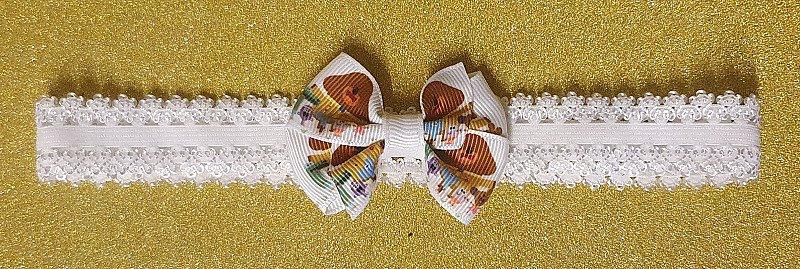 Baby Girls Childs Mini Hairbow or Headband