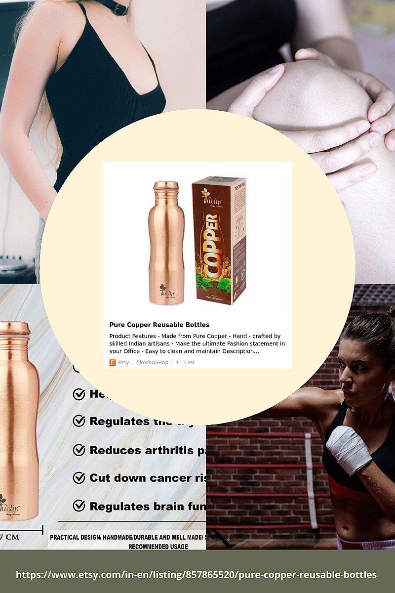 Pure Copper Reusable Bottles -