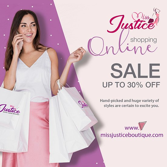 Welcome to Miss Justice Boutique - Women's fashion at great prices!