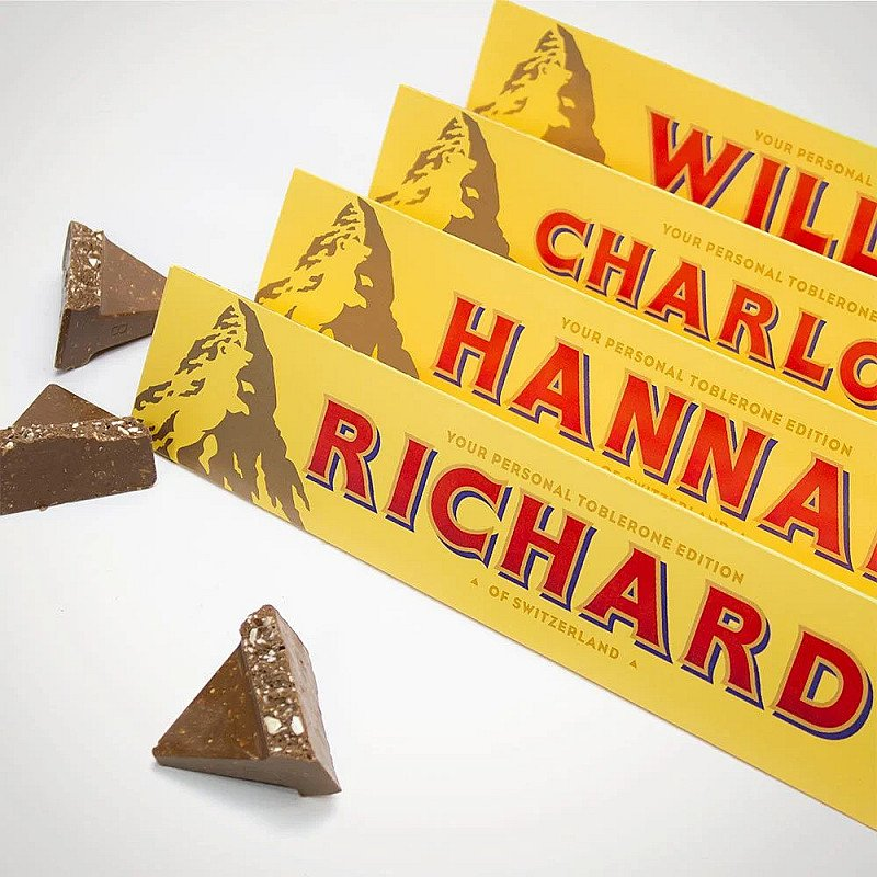 CHRISTMAS GIFTS - PERSONALISED TOBLERONE!