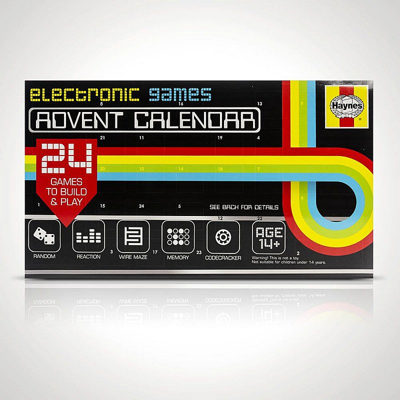 CHRISTMAS GIFTS - HAYNES ELECTRONIC GAMES ADVENT CALENDAR: £22.00!