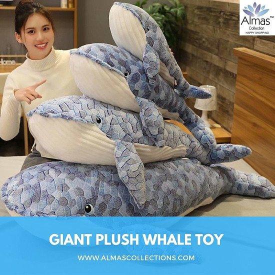 New Giant Plush Whale Toy