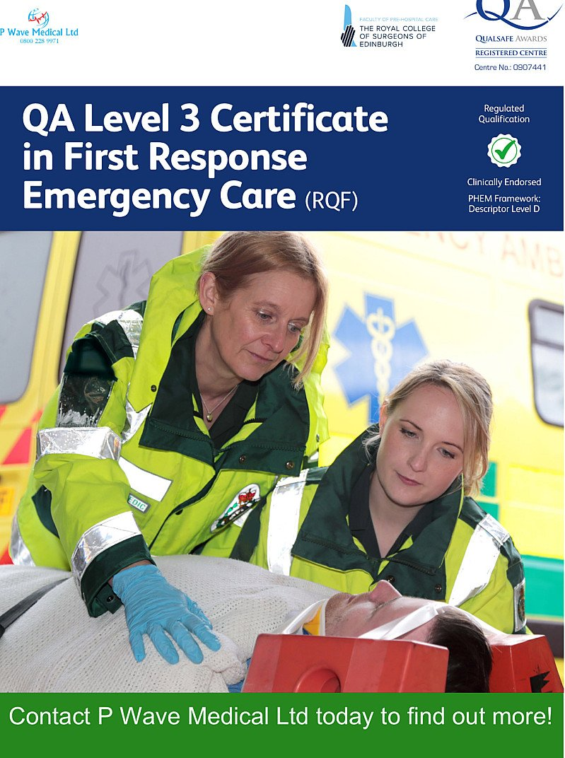 QA First Response Emergency Care Level 3 (RQF)