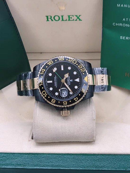 Rolex GMT MASTER 11 Black & Gold Men's Watch