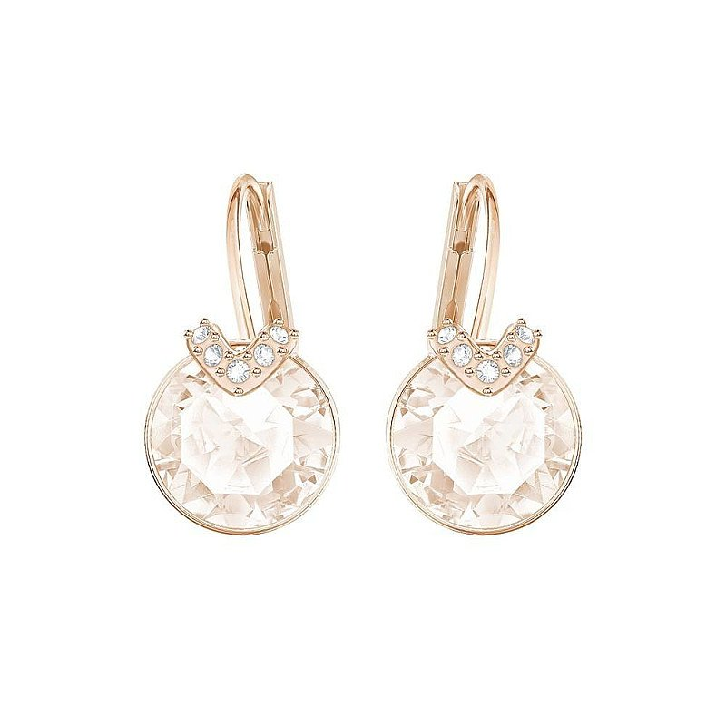 CHRISTMAS GIFT IDEAS: SWAROVSKI SMALL BELLA V ROSE GOLD & PINK EARRINGS - £45.00!