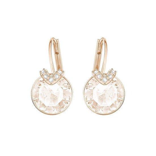 CHRISTMAS GIFT IDEAS: SWAROVSKI SMALL BELLA V ROSE GOLD & PINK EARRINGS - £45.00!
