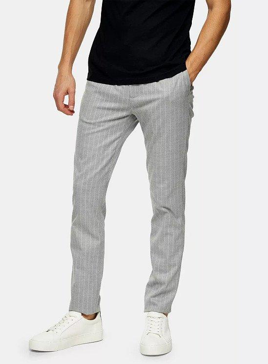 SALE - TALL Grey Stripe Joggers!