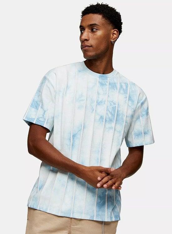 SALE - Blue Tie Dye Stripe T-Shirt!